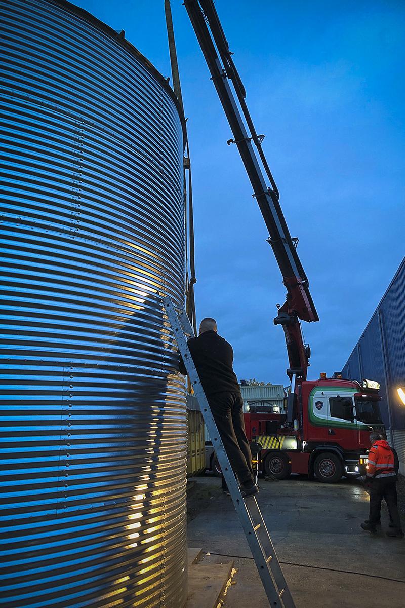 Biomassa opslag