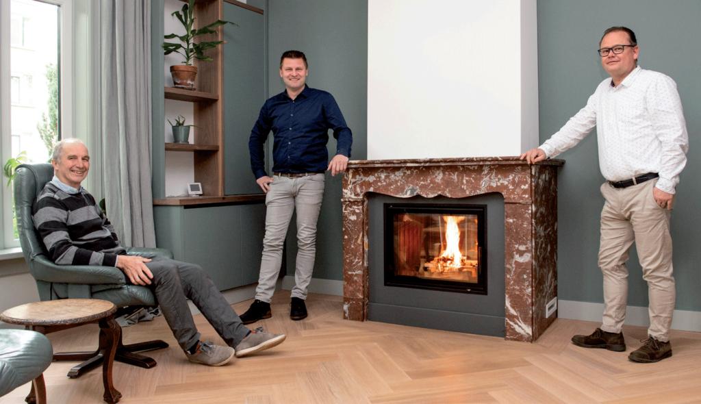 Bergen BV en DRU Green Design: een houthaard aangesloten op de CV